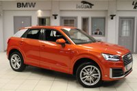 USED 2018 67 AUDI Q2 1.0 TFSI S LINE 5d 114 BHP HALF LEATHER SPORT SEATS + SATELLITE NAVIGATION + XENON HEADLIGHTS + 18 INCH ALLOYS + BLUETOOTH + PARKING SENSORS + CRUISE CONTROL + AIR CONDITIONING