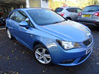 USED 2013 63 SEAT IBIZA 1.4 TOCA 3d 85 BHP Very Low Mileage! Seat Service History + Serviced by ourselves, MOT until October 2019