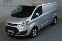 USED 2017 67 FORD TRANSIT CUSTOM 2.0 290 LIMITED AUTO 130 BHP LWB L2 H1 EURO 6 AIR CON SAT NAV REVERSE CAMERA