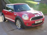 USED 2007 07 MINI HATCH COOPER 1.6 COOPER S 3d AUTO 172 BHP 1 PREVIOUS KEEPER +  SERVICE RECORD +  MOT SEPTEMBER 2019+  HALF LEATHER TRIM +  CLIMATE CONTROL +