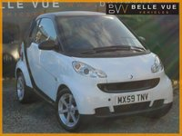 USED 2009 59 SMART FORTWO 0.8 PULSE CDI 2d AUTO 54 BHP *STUNNING WHITE DIESEL SMART CAR!*