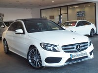 "USED 2015 65 MERCEDES-BENZ C CLASS 2.1 C220 D AMG LINE PREMIUM 4d AUTO 170 BHP +PANORAMIC SUNROOF+19"" ALLOYS+"