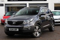 USED 2014 14 KIA SPORTAGE 1.7 CRDI 3 SAT NAV ISG 5d 114 BHP FULL LEATHER ** SAT-NAV ** SUNROOF ** FULL HISTORY