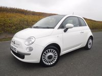 USED 2013 13 FIAT 500 1.2 LOUNGE 3d 69 BHP FINANCE ARRANGED***PART EXCHANGE WELCOME***£30 ROAD TAX***SERVICE HISTORY***BLUETOOTH***AUX***CD***AIR CON
