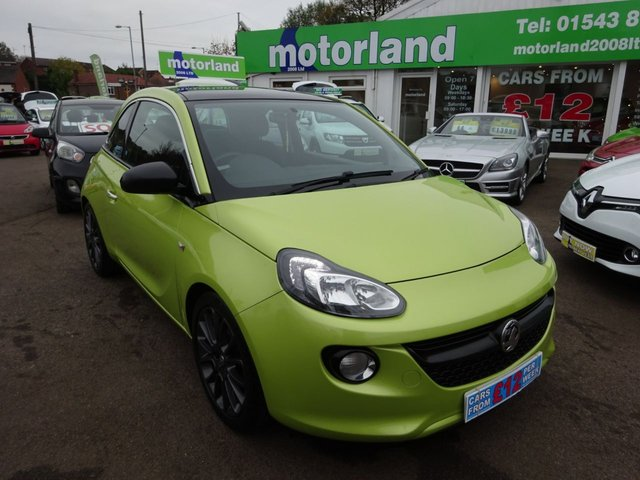 USED 2014 14 VAUXHALL ADAM 1.2 GLAM 3d 69 BHP PANORAMIC GLASS SUNROOF....DAB STEREO....BLUETOOTH....TEST DRIVE TODAY...CALL 01543 877320