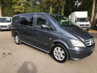 USED 2014 14 MERCEDES-BENZ VITO 2.1 116 CDI DUALINER LWB Air Conditioning, 6 Seats, Parking Sensors