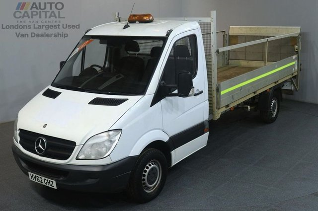 2012 62 MERCEDES-BENZ SPRINTER 2.1 313 CDI LWB 129 BHP RWD DROPSIDE WITH TAIL LIFT REAR BED LENGTH 14 FOOT