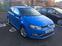 USED 2016 66 VOLKSWAGEN POLO 1.0 MATCH EDITION 5d 60 BHP VOLKSWAGEN WARANTY TO 18/12/2019!..CHEAP TO RUN, LOW CO2 EMISSIONS, £20 ROAD TAX AND EXCELLENT FUEL ECONOMY! GOOD SPECIFICATION INCLUDING AIR CONDITIONING, PARKING SENSORS, ALLOY WHEELS, AND AUXILLIARY INPUT! ONLY 9038 MILES AND FULL HISTORY!