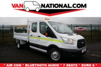 2016 FORD TRANSIT 2.2 350 L3 TIPPER DOUBLE CAB 125 BHP (EURO 6, 7 SEATER) £16690.00