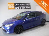 USED 2008 56 FORD FOCUS 2.5 ST-3 3d 223 BHP BEAUTIFUL CAR FINISHED IN GLEAMING METALIC BLUE  WITH FULL HISTORY, THIS CAR HAS BEEN SERVICED REGARDLESS OF COST WITH SOME NICE SPECIFICATIONS, INC FULL BLACK HEATED LEATHER, CAM BELT KIT AND WATER PUMP FITTED LAST YEAR,  CLIMATE CONTROL, ELEC HEATED MIRRORS, TWIN 18INCH UPGRADED ALLOYS , LEATHER CLAD STEERING WHEEL, DAB RADIO CD SYSTEM WITH  AUX POINTS.
