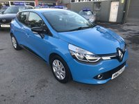 2013 RENAULT CLIO 0.9 DYNAMIQUE MEDIANAV ENERGY TCE ECO2 S/S 5d 90 BHP IN BLUE WITH 62000 MILES. £5799.00