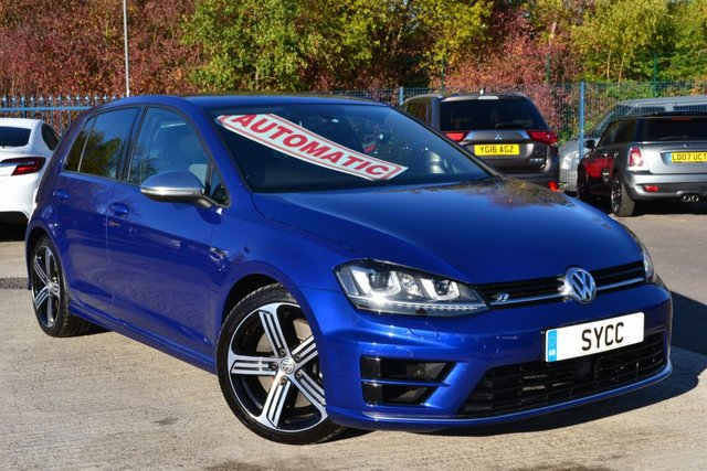 USED 2014 64 VOLKSWAGEN GOLF 2.0 R DSG 5d AUTO 298 BHP ~ LAPIZ BLUE STUNNING GOLF R ~ 1 FORMER KEEPER ~ FULL VW SERVICE RECORDS