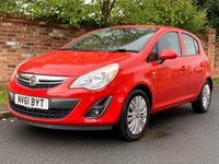 USED 2011 61 VAUXHALL CORSA 1.2 EXCITE AC 5d 83 BHP 1 OWNER, FULL SERVICE HISTORY, GENUINE LOW MILES, 1YR MOT. EXCELLENT CONDITION,  ALLOYS, AIR CON, BLUETOOTH, RADIO CD, E/WINDOWS, R/LOCKING, FREE  WARRANTY, FINANCE AVAILABLE, HPI CLEAR, PART EXCHANGE WELCOME,