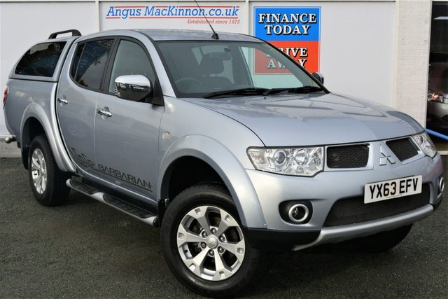 2013 63 MITSUBISHI L200 2.5 DI-D 4X4 BARBARIAN AUTO 5 Seat Double Cab Pickup with Rear Canopy Load Liner Side Steps Towbar Sat Nav Leather and NO VAT TO PAY