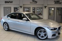 USED 2014 14 BMW 3 SERIES 2.0 320D M SPORT 4d 181 BHP - service history  FULL BLACK LEATHER SEATS + SERVICE HISTORY + BLUETOOTH + DAB RADIO + CRUISE CONTROL + REAR PARKING SENSORS + 18 INCH ALLOYS + AUTOMATIC AIR CONDITIONING
