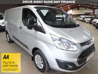 "USED 2016 66 FORD TRANSIT CUSTOM 2.2 290 TREND L2H1 LWB VAN 125 BHP - VERY LOW MILEAGE - ""YOU'RE IN SAFE HANDS"" - AA DEALER PROMISE"