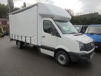 2015 VOLKSWAGEN CRAFTER 2.0 CR35 TDI CURTAIN SIDER  WITH ALLOY TAIL LIFT  REAR SHUTTER 136 BHP SIX SPEED ONE OWNER FULL SERVICE HISTORY LAST SERVICED 98K  READY FOR WORK  £10995.00