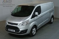 USED 2017 17 FORD TRANSIT CUSTOM 2.0 290 LIMITED 130 BHP L2 H1 LWB EURO 6 AIR CON VAN AIR CONDITIONING ONE OWNER