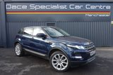 USED 2012 62 LAND ROVER RANGE ROVER EVOQUE 2.2 SD4 PURE 5DR 190 BHP 1 Owner Full Service History FINISHED IN A STUNNING  LOIRE BLUE + FULL SERVICE HISTORY + HEATED LEATHER SEATS + PARKING SENSOR + BLUETOOTH + MULTI FUNCTION WHEEL + CLIMATE CONTROL + 20 INCH ALLOY WHEELS