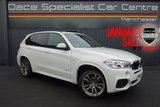 """USED 2015 15 BMW X5 3.0 XDRIVE30D M SPORT 5DR AUTOMATIC 255 BHP 7 Seats Full BMW Service History JANUARY SALE *SAVE £490*  Alpine White with 7 Black leather Seats, Full BMW Service History, 20"""" M Double Spoke Alloy Wheels. Professional Navigation, Heated Seats, Cruise Control, Bluetooth, Sun Protection Glass, Folding door mirrors, Front and Rear Parking Sensors"""