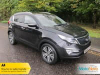 USED 2014 64 KIA SPORTAGE 1.7 CRDI 3 SAT NAV ISG 5d 114 BHP Fantastic High Spec Kia Sportage with Full Grey Leather, Satellite Navigation, Glass Panoramic Roof, Climate Control, Cruise Control, Alloy Wheels and Service History