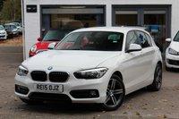 USED 2015 15 BMW 1 SERIES 1.6 118I SPORT 5d AUTO 134 BHP 1 OWNER FROM NEW ** FSH ** SAT-NAV ** DAB ** PARK AID **
