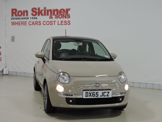 View our 2015 65 FIAT 500 1.2 LOUNGE 3d 69 BHP