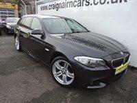 2012 BMW 5 SERIES 2.0 520D M SPORT TOURING 5d AUTO 181 BHP £13995.00