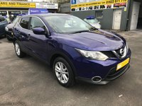 USED 2014 64 NISSAN QASHQAI 1.2 ACENTA PREMIUM DIG-T 5d 113 BHP IN METALLIC BLUE WITH 48000 MILES WITH PAN ROOF AND SAT NAV. APPROVED CARS ARE PLEASED TO OFFER THIS  NISSAN QASHQAI 1.2 ACENTA PREMIUM DIG-T 5d 113 BHP IN METALLIC BLUE WITH 48000 MILES IN IMMACULATE CONDITION WITH A GREAT SPEC INCLUDING SAT NAV,PANORAMIC ROOF,6 SPEED GEARBOX,AIR CON,BLUETOOTH,CRUISE CONTROL,FRONT AND REAR PARKING SENSORS,REAR CAMERA AND MUCH MORE WITH A FULL SERVICE HISTORY WITH 4 NISSAN SERVICE STAMPS.