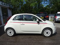 USED 2015 65 FIAT 500 1.2 CONVERTIBLE LOUNGE 3d 69 BHP NEW SHAPE *ITALIA EDITION* Low Mileage, Full Service History + Serviced by ourselves, One Owner, Minimum 8 months MOT, Good fuel economy! Only £20 Road Tax! New Shape, Convertible