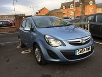 USED 2014 64 VAUXHALL CORSA 1.2 S AC S/S 5d 83 BHP 8675 MILES AND FULL HISTORY! CHEAP TO RUN, LOW CO2 EMISSIONS, £30 ROAD TAX AND EXCELLENT FUEL ECONOMY!  GOOD SPECIFICATION INCLUDING AIR CONDITIONING, AND AUXILLIARY/USB CONNECTION!