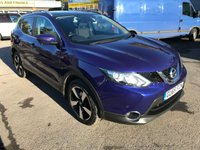 USED 2015 65 NISSAN QASHQAI 1.5 DCI N-TEC PLUS 5 DOOR 108 BHP IN METALLIC BLUE WITH 43000 MILES  AND A GREAT SPEC. APPROVED CARS ARE PLEASED TO OFFER THIS NISSAN QASHQAI 1.5 DCI N-TEC PLUS 5 DOOR 108 BHP IN METALLIC BLUE WITH 43000 IN IMMACULATE CONDITION WITH A GREAT SPEC INCLUDING 6 SPEED GEARBOX,SAT NAV,PANORAMIC ROOF,BLUETOOTH,REAR CAMERA,REAR PARKING SENSORS AND MUCH MORE WITH A NISSAN SERVICE HISTORY A LOVELY LOOKING AND DRIVING QASHQAI.
