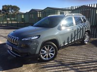 2014 JEEP CHEROKEE 2.0 M-JET LIMITED 5d 138 BHP SAT NAV LEATHER ONE OWNER  £12490.00