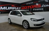 2009 VOLKSWAGEN GOLF 2.0 GT TDI 5DOOR 138 BHP CANDY WHITE £6250.00