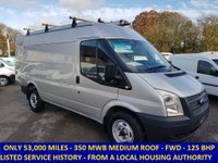 2013 FORD TRANSIT 125 350 MWB MEDIUM ROOF WITH ONLY 53,000 MILES £8295.00