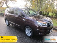 USED 2013 63 SSANGYONG RODIUS TURISMO 2.0 EX 5d AUTO 155 BHP Lovely High Spec Seven Seat Ssangyong Turismo Automatic with Full Leather, Climate Control, Cruise Control, Alloy Wheels and Service History