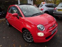 USED 2016 16 FIAT 500 1.2 CONVERTIBLE POP STAR 3d 69 BHP NEW SHAPE Very Low Mileage - Less than 4,000 miles covered from new! One Lady Owner from new, Serviced by ourselves, Minimum 8 months MOT, Great on fuel economy! Only £20 Road Tax! Convertible. Balance of Fiat Warranty until March 2019. New Shape Model