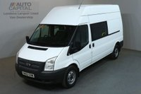 USED 2012 62 FORD TRANSIT 2.2 350 124 BHP L3 H3 LWB H/ROOF 9 SEATER COMBI VAN ONE OWNER FULL S/H