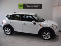 USED 2012 61 MINI COUNTRYMAN 1.6 COOPER D ALL4 5d 112 BHP BEAUTIFUL CAR FINISHED IN GLEAMING ALPINE WHITE.  FULL HISTORY, THIS CAR HAS BEEN SERVICED REGARDLESS OF COST WITH SOME NICE SPECIFICATIONS, INC FULL LEATHER INTERIOR, CLIMATE CONTROL, ELEC HEATED MIRRORS, TWIN BAR 18INCH UPGRADED ALLOYS ,MULTI FUNCTION LEATHER CLAD STEERING WHEEL, MINI  MULTI MEDIA SYSTEMS WITH USB