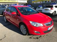 2011 VAUXHALL ASTRA 1.4 EXCITE 5 DOOR 98 BHP IN BRIGHT RED WITH ONLY 56000 MILES WITH ALLOYS AND A FULL SERVICE HISTORY. £4499.00