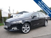 USED 2016 66 FORD MONDEO 2.0 TITANIUM TDCI 5d AUTO 177 BHP CRUISE CONTROL, LED LIGHTS, SAT NAV, LANE DEPARTURE WARNING SYSTEM,