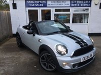 USED 2013 13 MINI ROADSTER 1.6 COOPER S 2d 181 BHP 31K 2OWNERS 6SPD LEATHER DAB CRUISE BLUETOOTH STUNNING CONDITION
