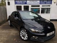 USED 2010 60 VOLKSWAGEN SCIROCCO 2.0 GT DSG 3d AUTO 211 BHP 70K 2OWNERS NAV CRUISE LEATHER PRIVACY GLASS PARK ALERT EXC CONDITION