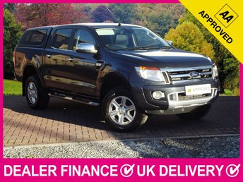 2013 FORD RANGER 2.2 TDCI LIMITED DOUBLE CAB HARDTOP CANOPY SAT NAV £12650.00