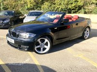 USED 2011 11 BMW 1 SERIES 2.0 118D SPORT 2d CABRIOET, FULL RED LEATHER, CAT D 2011/11 PLATE ONLY 34,000 MILES BMW SERVICE HISTORY CAT D HENCE PRICE