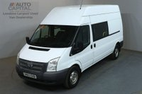 USED 2013 63 FORD TRANSIT 2.2 350 124 BHP LWB H/ROOF L3 H3 9 SEATER COMBI CREW VAN ONE OWNER SPARE KEY