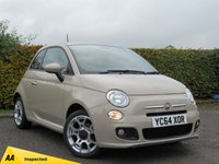 USED 2014 64 FIAT 500 1.2 S 3d FULL SERVICE HISTORY * 12 MONTHS MOT * HALF LEATHER INTERIOR * BLUETOOTH