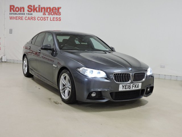 View our 2016 16 BMW 5 SERIES (80) 3.0 530D M SPORT 4d AUTO 255 BHP with BMW Professional + Reverse Camera + Enhanced Bluetooth