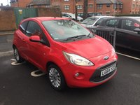 USED 2014 64 FORD KA 1.2 ZETEC 3d 69 BHP ONLY 3129 MILES! CHEAP TO RUN, LOW CO2 EMISSIONS, £30 TAX AND EXCELLENT FUEL ECONOMY! EXCELLENT SPECIFICATION INCLUDING AIR CONDITIONING, PARKING SENSORS, FRONT HEATED SCREEN, AUXILLIARY INPUT/USB CONNECTION AND ALLOY WHEELS!