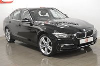 USED 2012 12 BMW 3 SERIES 2.0 318D LUXURY 4d 141 BHP BLACK WITH BLACK LEATHER + SERVICE HISTORY + 18 INCH ALLOYS
